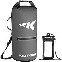 KastKing Cyclone Seal Dry Bag - Best-in-Class 100% Waterproof Bag with Phone Case Front Zippered Pocket, Perfect for Beach, Fishing, Kayaking, Boating, Hiking, Camping, Biking, Skiing
