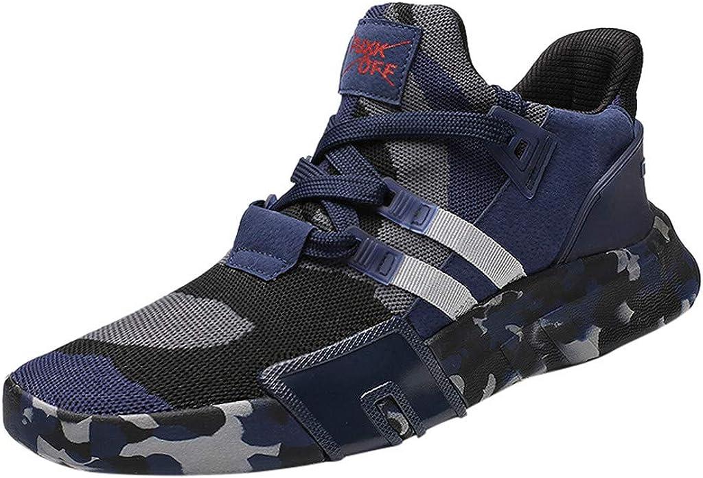 riou Zapatillas Deporte Hombre Transpirable Ligeras Moda Camuflaje Zapatos para Deportivo versátil Calzado Casuales Gimnasio Sneakers Negro, Rojo, Blanco, Azul 39-47