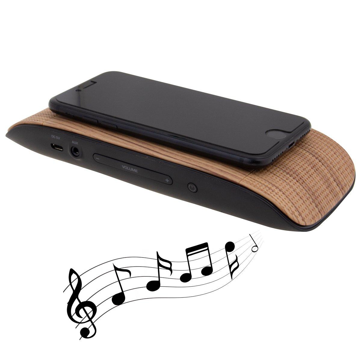 Soundflow Soundboard Wireless Portable Speaker presto, no pairing, no wires, no setup! (SP20WDBK in Woodgrain) (Discontinued by Manufacturer)