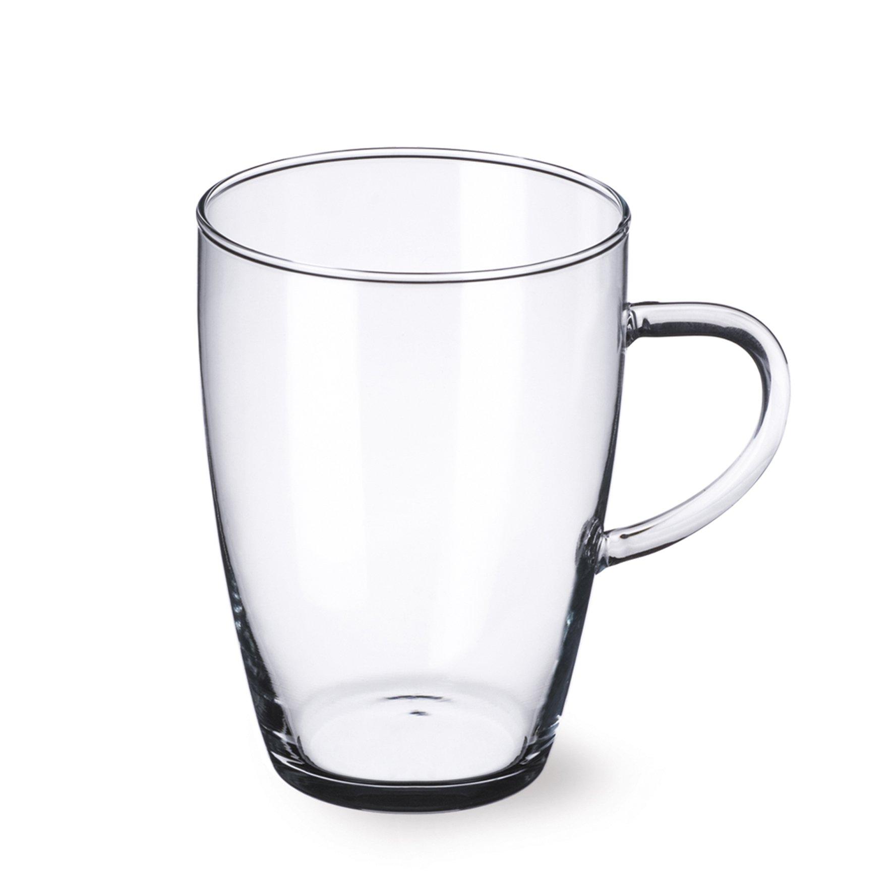 Simax Glassware 2612/4 Lyra Mugs, 12-Ounce, Set of 4