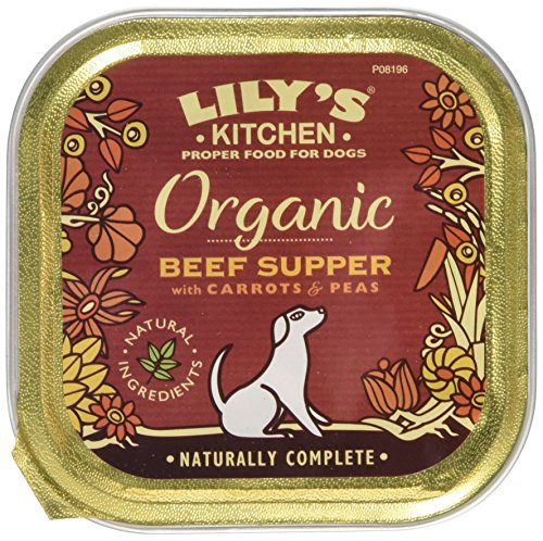Lily's Kitchen Organic Beef and Spelt Supper for Dogs 150g (Pack of 11) For Sale