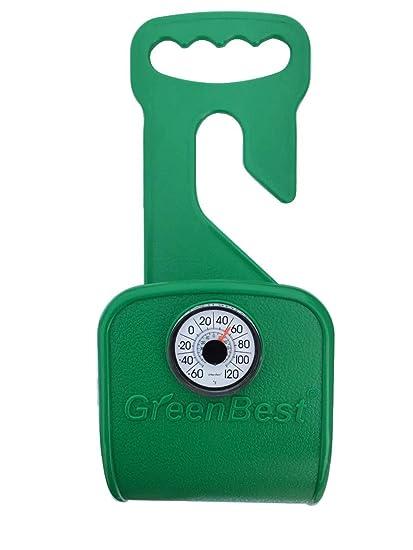 garden hose hanger. Greenbest Durable, Rust-Free Hose Hanger, Holder, Carrier, Support With Thermometer Garden Hanger F