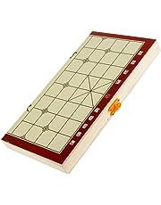 Blesiya Chinese Chess Xiangqi Folding Wooden Chessboard Chess Pieces High Quality