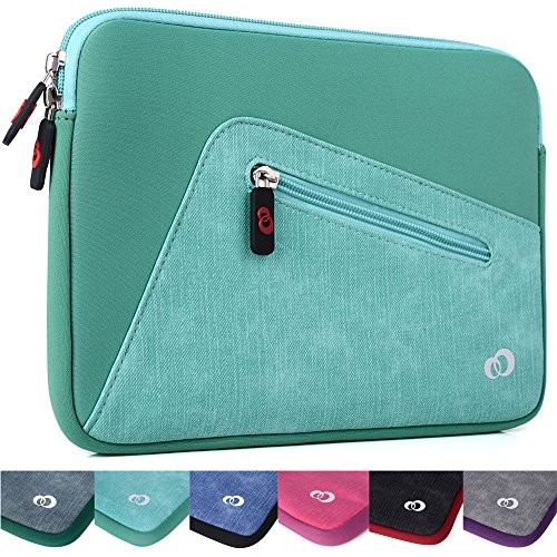 Kroo Checkpoint Friendly Tablet Sleeve fits LG G Pad 4G LTE, G Pad II 10.1 inch, LG G Pad X 10.1, LG Electronics E10 Tablet (Mint Green Universal Case) (Nook 360 Color Case)