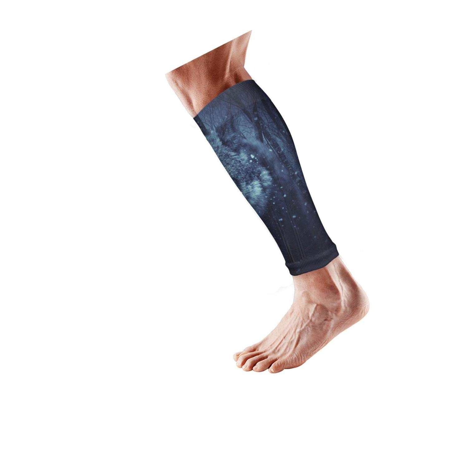 Smilelolly wolf Calf Compression Sleeves Helps Calf Guard Leg Sleeves for Men Women