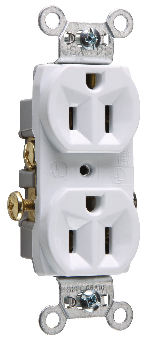 Legrand-Pass & Seymour CR15WCC12 Commercial Grade Duplex Receptacle 15-Amp/125-volt, White Pass & Seymour/Legrand