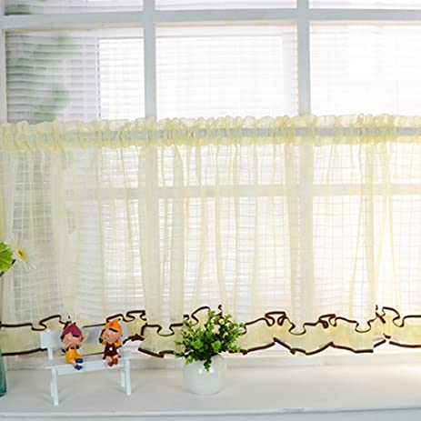 Riverbyland Gauze Yellow Valances 55 By 14 Inch Window Treatments