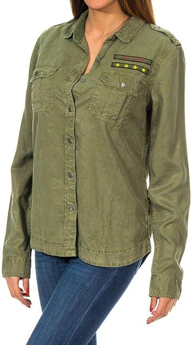 Superdry Camisa Military Gris: Amazon.es: Ropa y accesorios