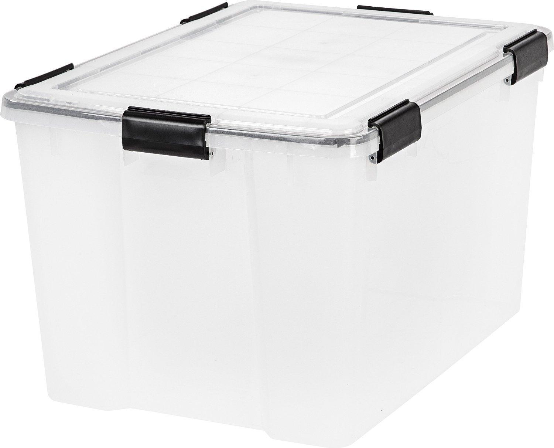 IRIS 74 Quart WEATHERTIGHT Storage Box Clear - 6 pack