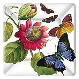Ideal Home Range 8 Count Boston International Caskata Studio Paper Dessert Plates, 7'', Butterflies