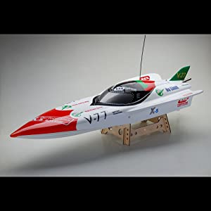 Exceed Racing FiberGlass V24 GHB 26CC Gas Powered ARTR Almost Ready to Run Speed Boat