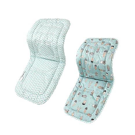 Baoblaze Universal Kinderwagen Sitzkissen Baby Sitzauflage Baumwolle, Buggy Auflage - Blaue Welle Kaktus