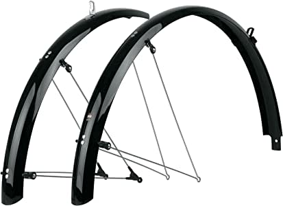 SKS B42 Commuter 2 Bicycle Fender Set (Black, Fits Tire Sizes 700 x 25)