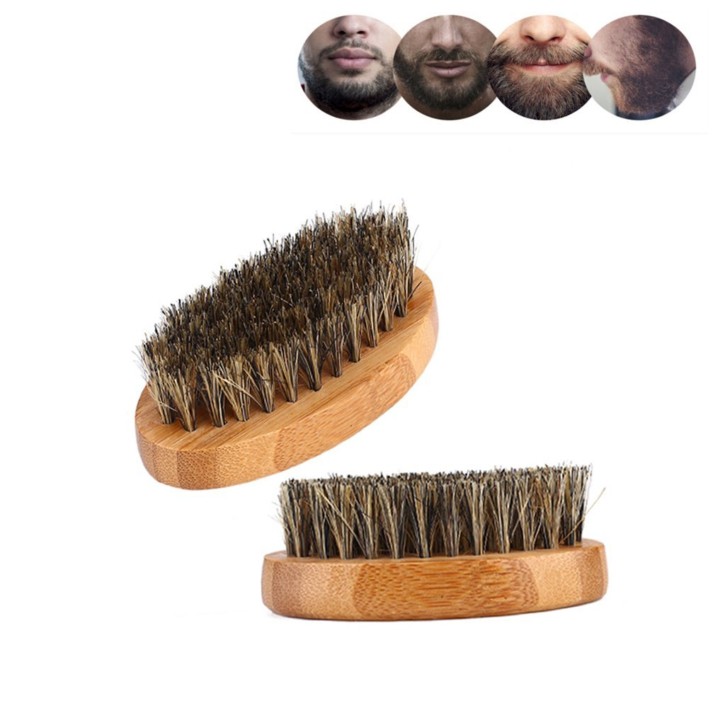 ICYANG 2 Stücke Männer Bartbürste Wildschweinborsten Bart ...
