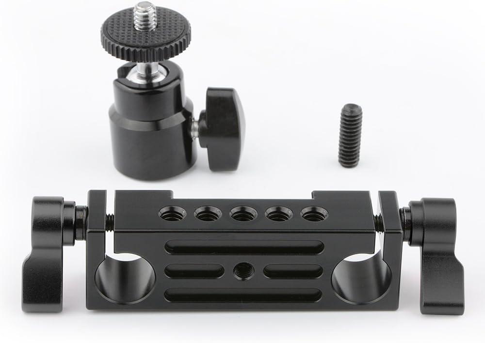 Cold Shoe Halterung mit 15mm Rail Rod Attachment HSRM-01 Hotshoe