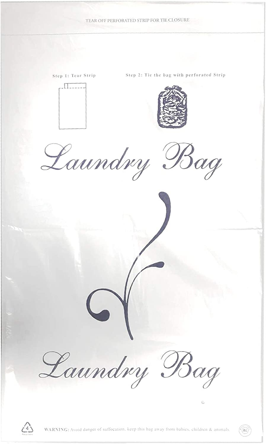 Hotel Laundry Bags with Tie Closure - Pack of 50
