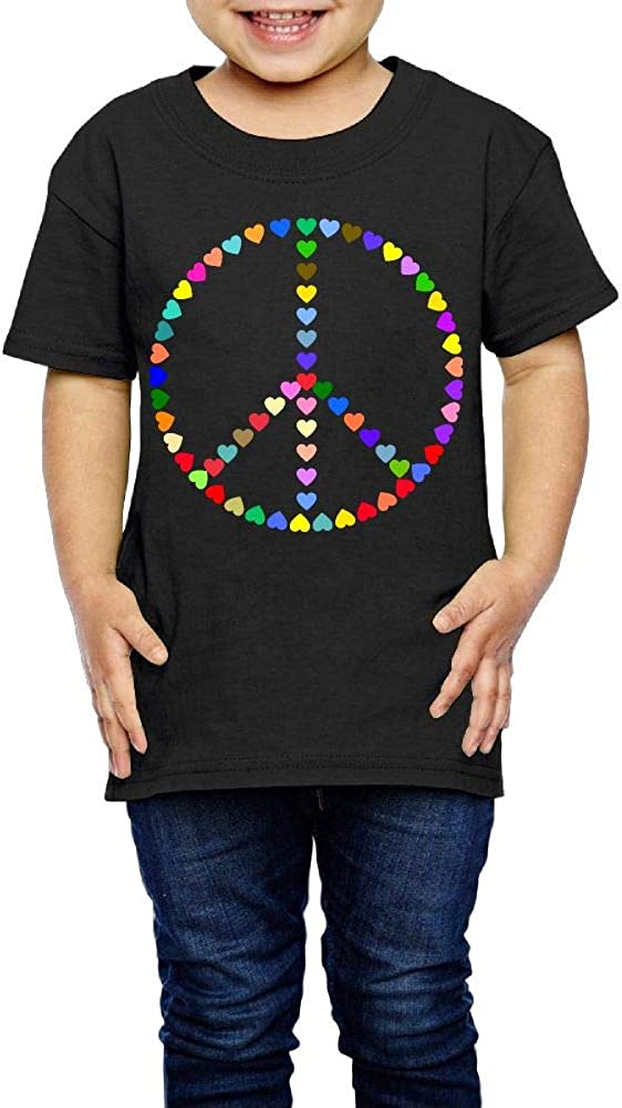 Colorful Peace Sign Love 2-6 Years Old Kids Short-Sleeved Tee Shirts