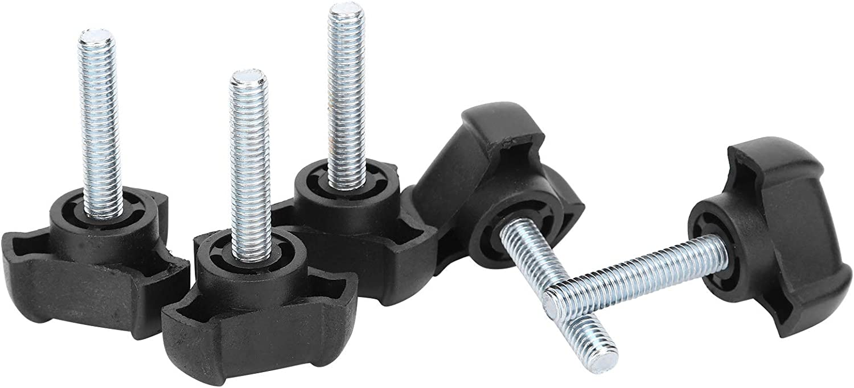 Black Plastic Screw-On Handle Clamping Knob Tightening Screw Knob for Mechanical DAUERHAFT Plastic ABS Carbon Copper