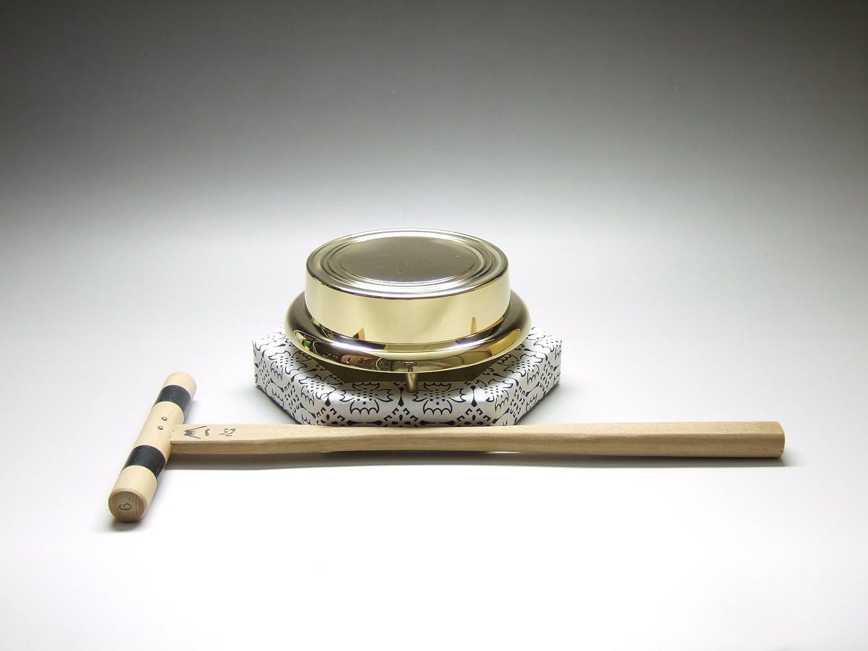京仏壇はやし 仏具セット 鉦吾セット 4寸 ( 鉦鼓 鉦鈷 伏鉦 叩鉦 敲鉦 鉦 ) B00N0DL0MQ4.0寸