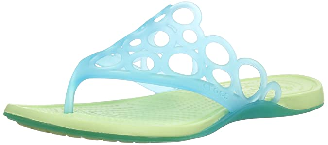 crocs Women's Adrina Bubbles Flip-Flops and House Slippers Flip-Flops & Slippers at amazon