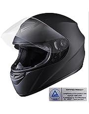 Yescom XL Full Face Helmet Visor Motorcycle Motorbike Racing AS/NZS 1698 Matt Black