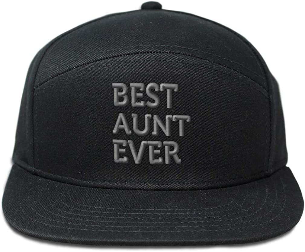 Custom Snapback Hats for Men /& Women Best Aunt Ever Embroidery Cotton Snapback