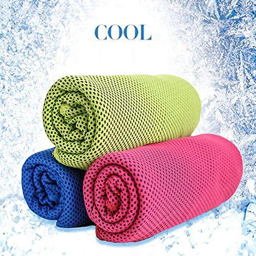 hihamer 30100 CMファッションクリエイティブスポーツ冷却タオル汗夏氷アイスタオルクールタオル冷たいタオル低体温PVA 3パック   B07F9NTG66