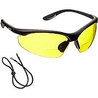 voltX 'CONSTRUCTOR' BIFOCALE VEILIGHEIDSLEESBRIL (GEEL +1.0 Dioptrie) CE EN166F Gecertificeerde/Fiets- of Sportbril…