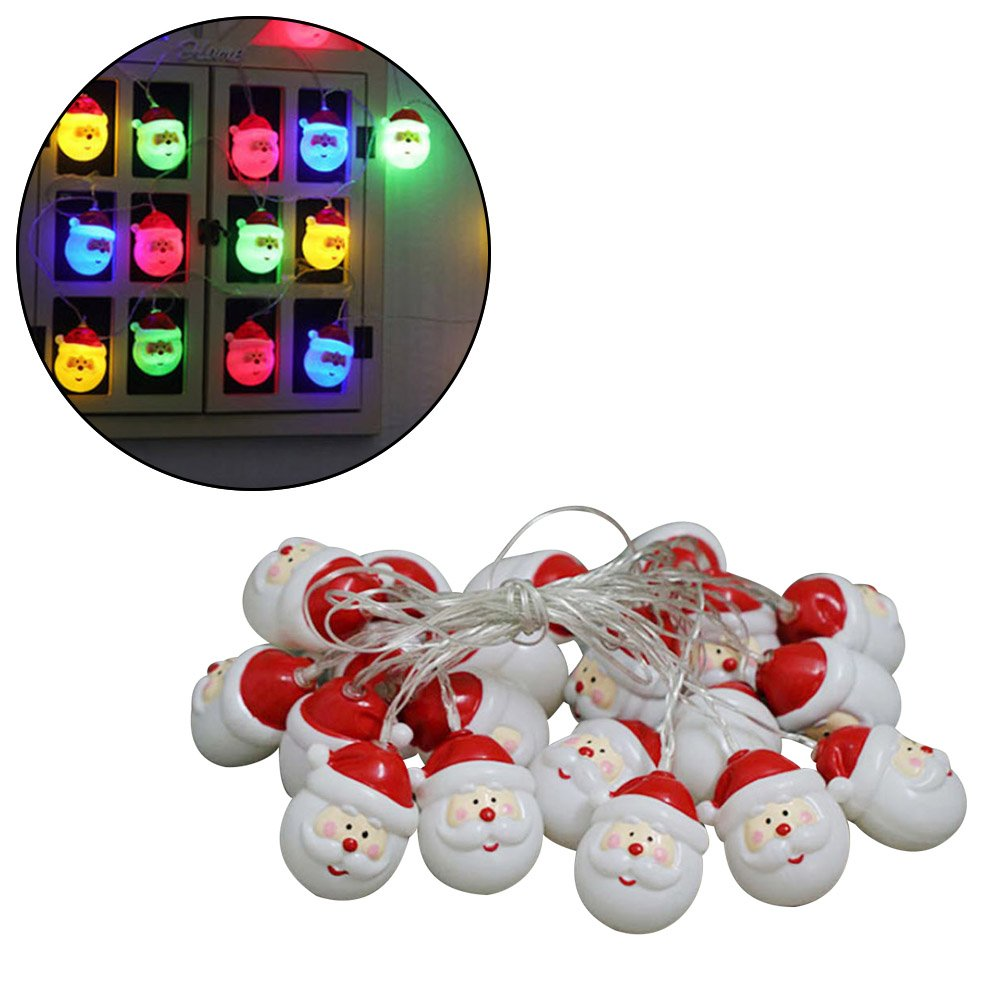 LBZE 20 LEDs Santa Claus String Light, Christmas Decoration Snowman String Lights for Christmas Tree Xmas Party Wedding Decor (Colorful)