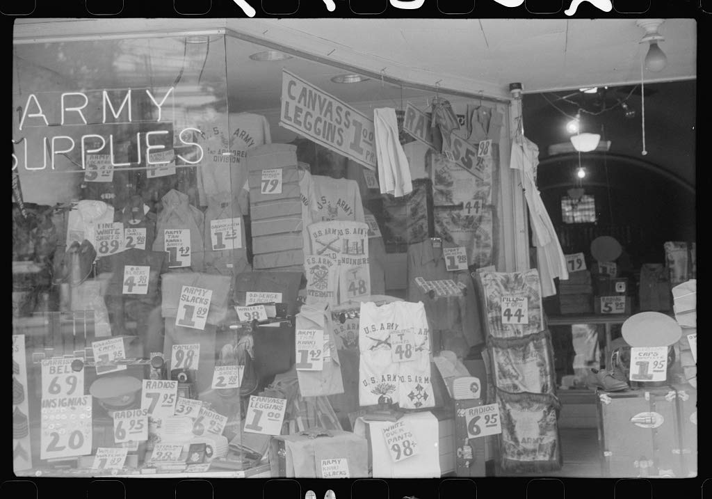 Reproduced Photo of Window Display in Military Supply Store in Columbus, Georgia 1941 Delano C Jack 69a