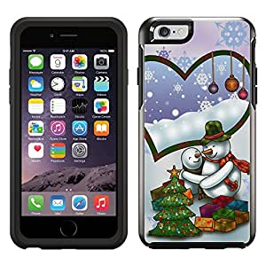 Skin Decal for OtterBox Symmetry Apple iPhone 6 Case - Merry Christmas Snowmen Couple