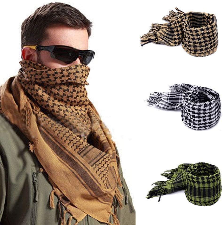 Mens Neckband Arab Scarf SLR Outdoor Scarf Warm Windproof Collar