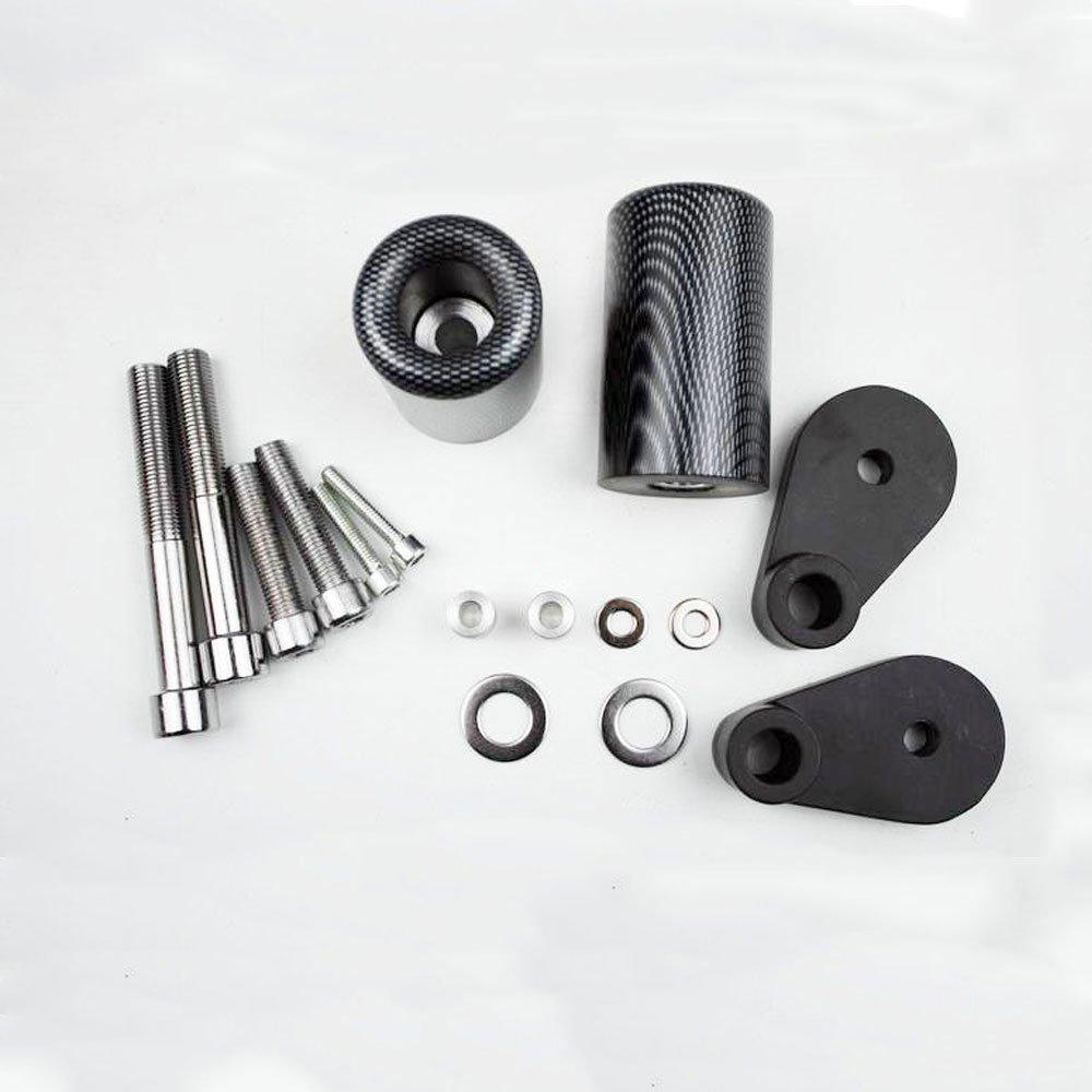 Carbon fiber Black carbon fiber Frame Slider Crash Predector For HONDA CBR1000RR 0607