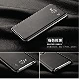 Casecart Leather Battery Back Case Cover with Chrome Bumper for Xiaomi Redmi 2 Prime-BLACK