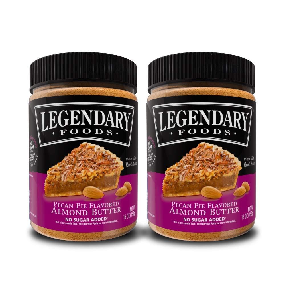 Legendary Foods | Pecan Pie Almond Nut Butter (16 oz Jar) | Low Carb and No Added Sugar | Healthy, Paleo, Vegan, Keto Friendly Snacks (2 Pack)