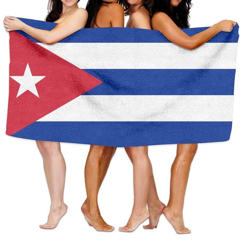 Beach Towel Flag of Cuba 31 X 51 Soft Lightweight Absorbent for Bath Swimming Pool Yoga Pilates Picnic Blanket Towels NFHRRE