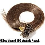 Extension Capelli Veri Cheratina 100 Ciocche 100% Remy Human Hair Pre Bonded U Tip Nail Hair Capelli Naturali Lisci 0.5g/fascia