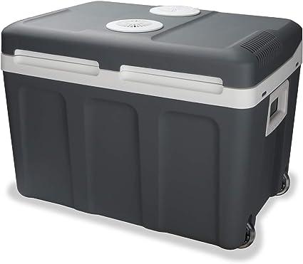 Hengda Nevera termoeléctrica portátil 40L, Conexiones 12/230 V, Mantiene el frío y el Calor, para Camping, Coche, picnics, Familia