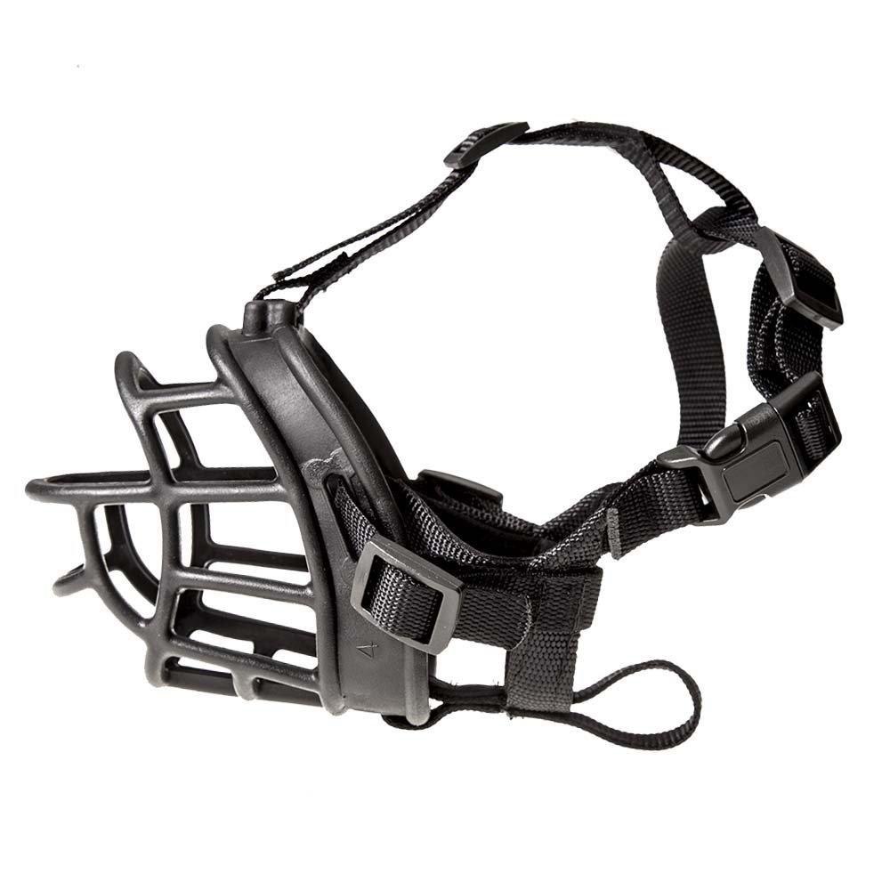 GAITY PET DOG MUZZLE, Soft Silicone Basket Dog Muzzles-Adjustable Breathable Biting Chewing Barking Training Dog Mask For Small Medium Large Dogs (Size 4-11.0IN)