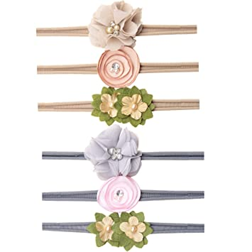 Baby//Girls Triple Chiffon Flower Hairband Soft Elastic Headband Hair Accessories