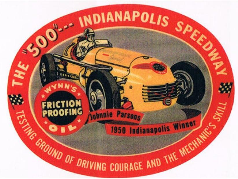 1952 STA-LUBE BONNEVILLE DRAG RACE HOT RAT ROD DECAL VINTAGE LOOK STICKER