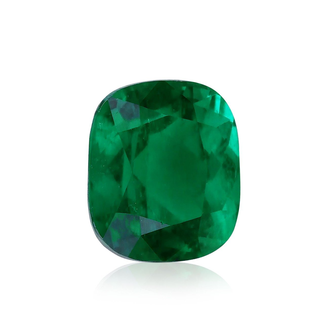 4.45 cts verde esmeralda sueltos gemas cojín corte gubelin ...