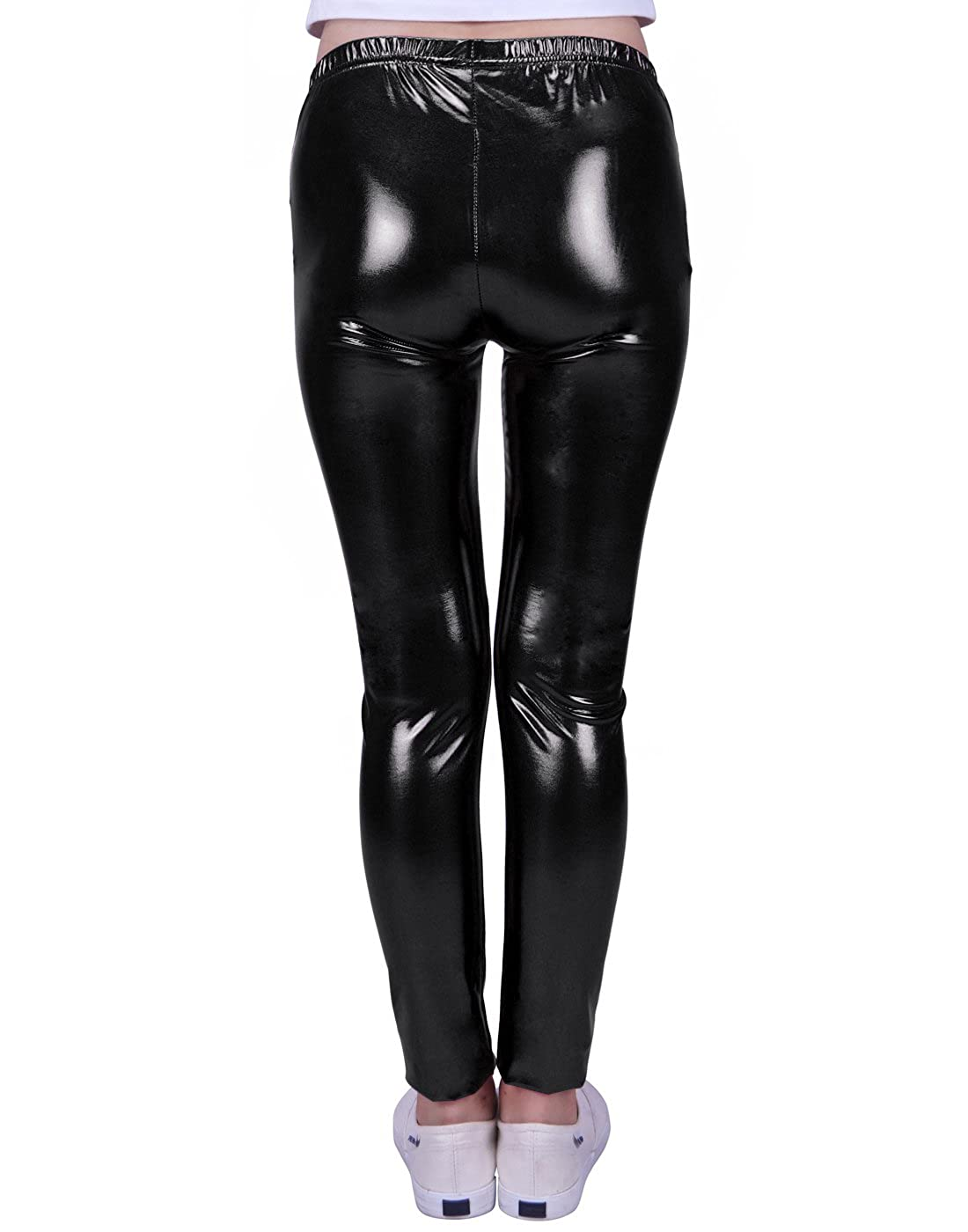238df04293ed8 HDE Girls Shiny Wet Look Leggings Kids Liquid Metallic Footless Tights  (4T-12): Amazon.ca: Clothing & Accessories