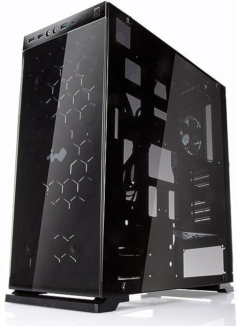 In Win de Aluminio 805/Mid de Cristal Templado de la Torre de Caja para PC - Negro: Amazon.es: Informática