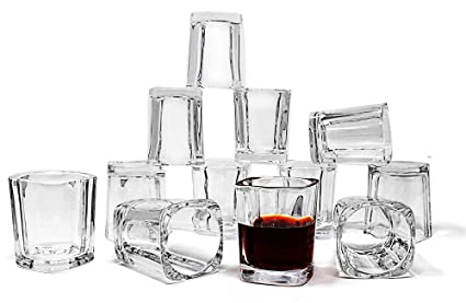jalousie 12 pack clear glass 2 ounces 24 inch tall shot glass tumbler cup for coffee - How Many Ounces In A Shot Glass