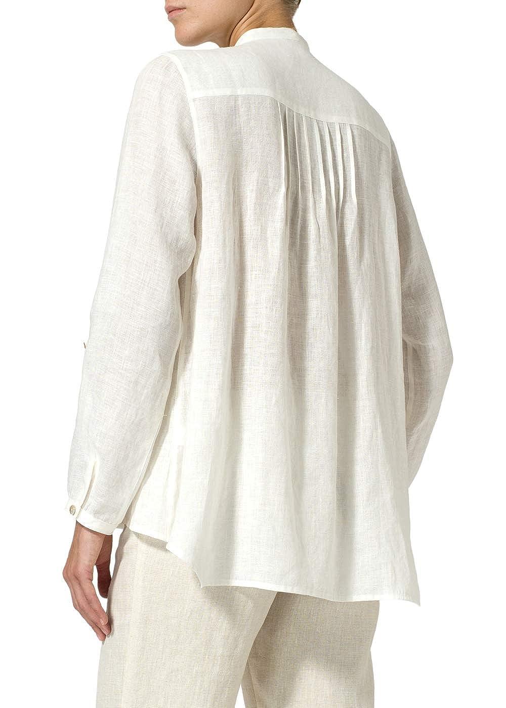 Vivid Linen Pleated A Line Shirt