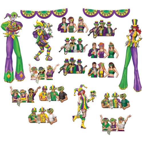 Mardi Gras Reveler Props Party Accessory (1 count) -