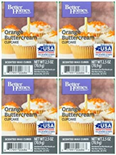 Better Homes And Gardens Orange Buttercream Cupcake Wax Cubes   4 Pack