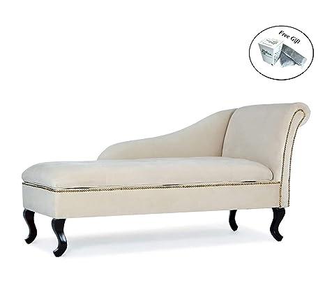 Amazon.com: Nailhead Trim Storage Chaise Lounge Chair Tufted ...