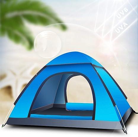 Pudincoco 3-4 Personas Tienda de campaña Familiar Tienda de campaña Tienda de campaña Impermeable Refugio con Bolsa de Transporte para picnics Pesca Pesca Uso al Aire Libre ((Azul)): Amazon.es: Deportes y aire